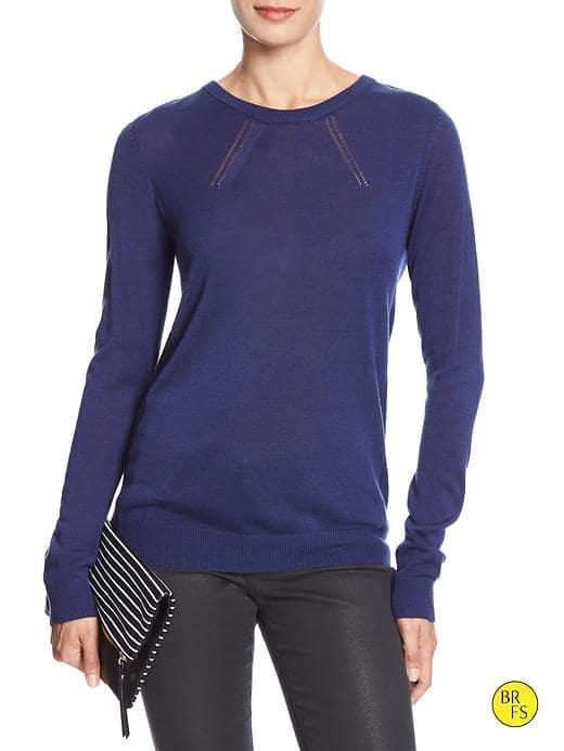 Banana Republic Factory Crew Neck Sweater - Cobalt