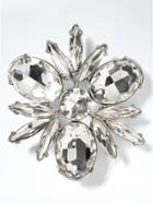 Banana Republic Crystal Stone Brooch - Clear Crystal