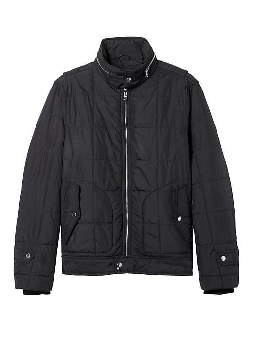Banana Republic Mens Quilted Jacket - Black
