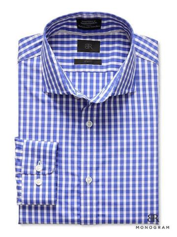Banana Republic Monogram Gingham Shirt - Blue