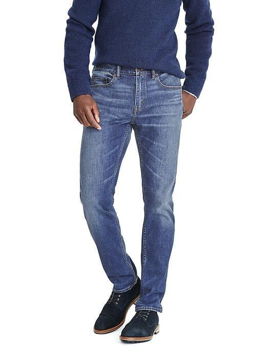 Banana Republic Mens Slim Indigo Wash Jean - Indigo