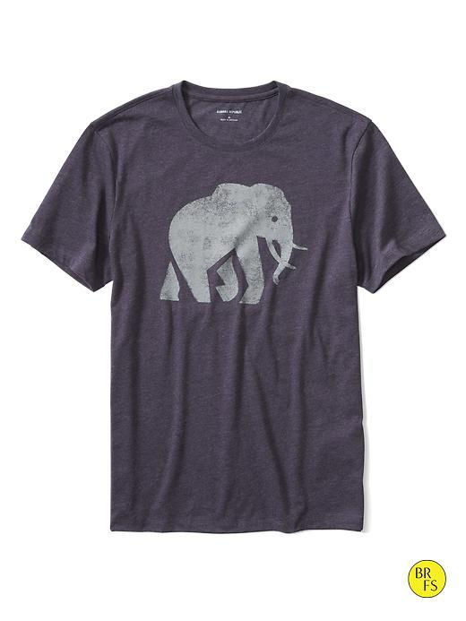 Banana Republic Mens Factory Graphic Tee Size L - Twilight Purple