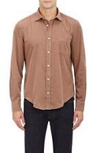Hartford Micro-corduroy Shirt-brown