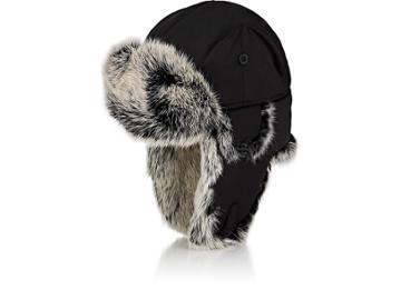 Crown Cap Men's Fur-trimmed Down-filled Aviator Hat