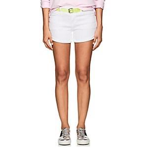 Frame Women's Le Cut Off Denim Shorts-white