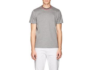Moncler Men's Herringbone-trimmed Cotton T-shirt