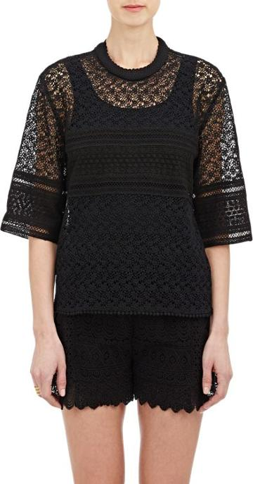 Goen.j Macrame Top-black