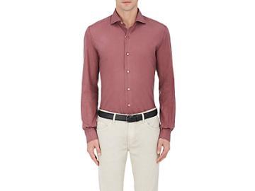 Barneys New York Men's Cotton Button-front Shirt