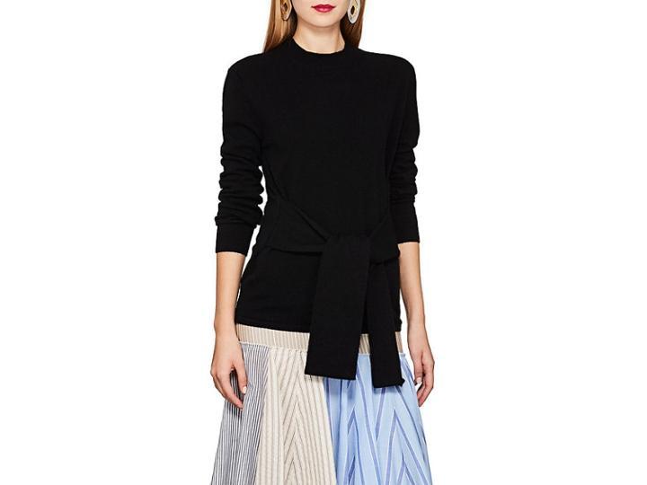 Les Coyotes De Paris Women's Lulu Cashmere Tie-front Sweater