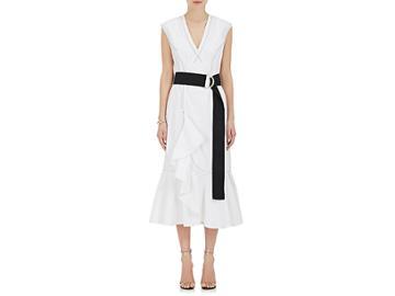 Derek Lam 10 Crosby Women's Cascading-ruffle Cotton Dress