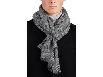 Barneys New York Men's Houndstooth Virgin-wool-silk Scarf