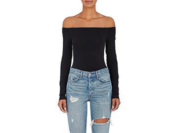 Wolford Women's Sheen Jersey Off-the-shoulder Bodysuit