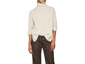 Boon The Shop Women's Two-tone Cashmere Turtleneck Sweater