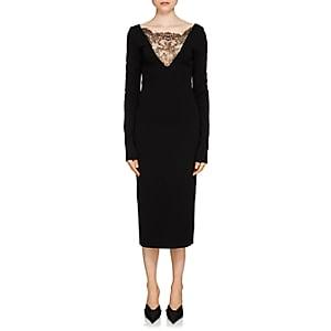 Givenchy Women's Lace-inset Compact Knit Dress - Black