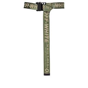 Off-white C/o Virgil Abloh Men's Industrial Logo-jacquard Belt - Dk. Green