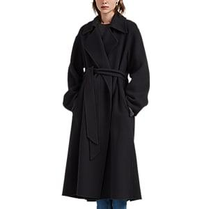 The Row Women's Efo Foamy Cashmere Wrap Coat - Dark Gray