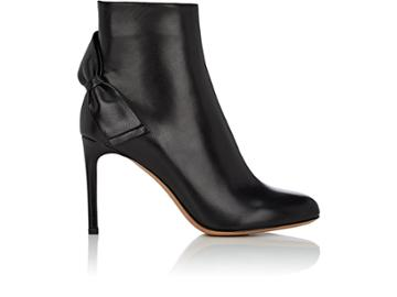 Valentino Garavani Women's Bow-embellished Leather Ankle Boots