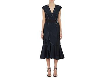 Derek Lam 10 Crosby Women's Cascading-ruffle Cotton Poplin Dress