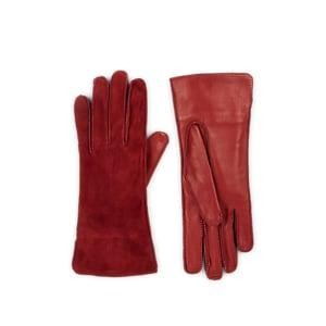Barneys New York Women's Suede & Leather Gloves - Wine