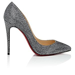 Christian Louboutin Women's Pigalle Follies Patent Leather Pumps-antic Silver