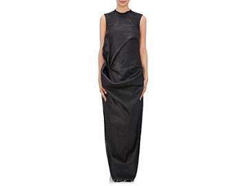 Rick Owens Women's Elipse Drape-front Cotton Sleeveless Dress