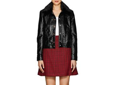 Barneys New York Women's Fur-collar Coated Jacket
