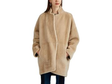 Boon The Shop Women's Reversible Shearling & Suede Coat