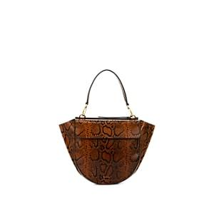 Wandler Women's Hortensia Medium Python-stamped Leather Shoulder Bag - Brown