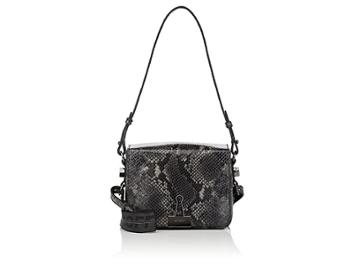 Off-white C/o Virgil Abloh Women's Small Python-stamped Leather Crossbody Bag
