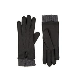 Barneys New York Women's Cashmere-lined Deerskin Gloves - Black