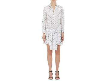 Derek Lam 10 Crosby Women's Flocked Cotton Poplin Shirtdress