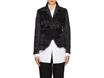 Comme Des Garons Women's Ruffled Tech-fabric Jacket