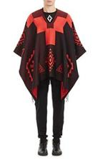 Marcelo Burlon County Of Milan Blest Poncho-red