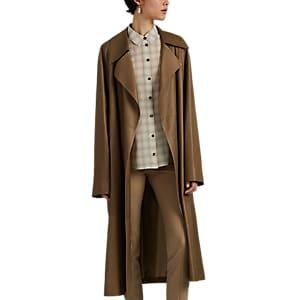 The Row Women's Efo Leather Belted Coat - Brown