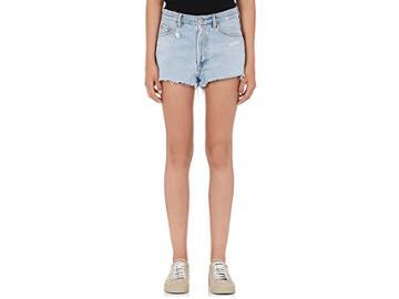 Off-white C/o Virgil Abloh Women's Cut-off Denim Shorts