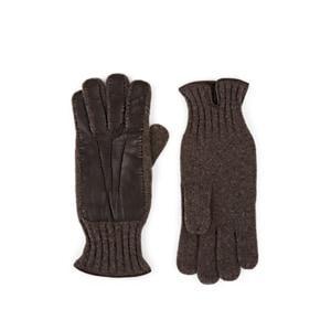 Barneys New York Men's Cashmere & Leather Gloves - Gray