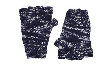 The Elder Statesman Women's Mlange Cashmere Fingerless Gloves