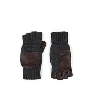 Barneys New York Men's Cashmere Convertible Mittens - Dark Gray
