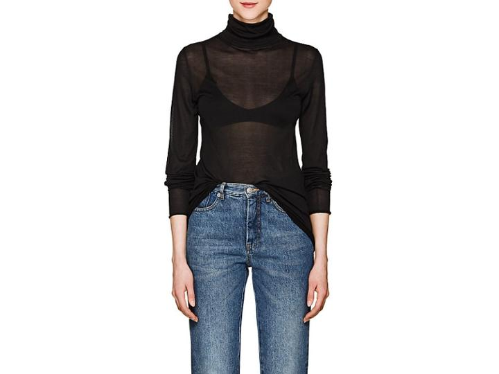 Boon The Shop Women's Silk Turtleneck Top