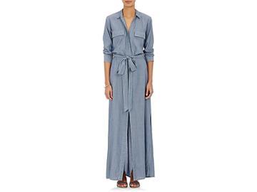 L'agence Women's Cameron Chambray Maxi Shirtdress