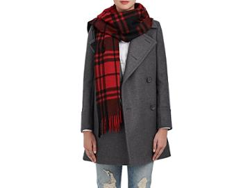 Boon The Shop Women's Checked Cashmere Scarf