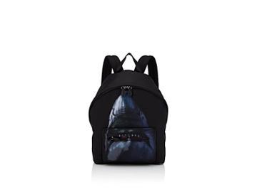 Givenchy Men's Shark Leather-trimmed Canvas Backpack
