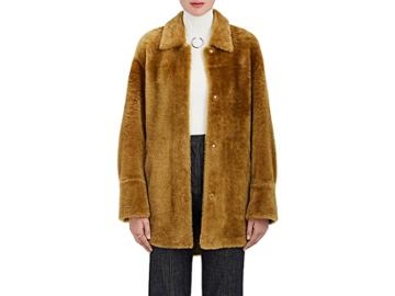 Boon The Shop Women's Oversized Shearling Coat