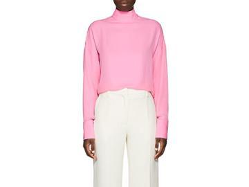 Valentino Women's High-neck Silk Blouse