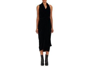 Rick Owens Women's Limo Velvet Wrap Dress