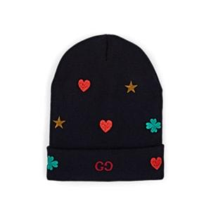 Gucci Men's Embroidered Gg Logo Wool Beanie - Dk. Blue