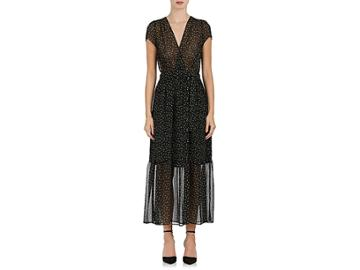 Tomorrowland Women's Floral Crepe Belted Dress
