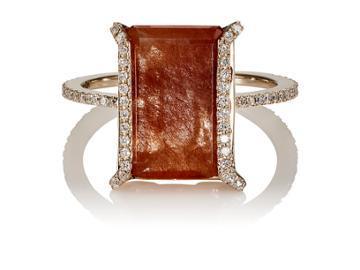 Monique Pan Women's White Diamond & Rutile Ring