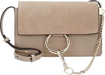 Chlo Faye Small Shoulder Bag-grey