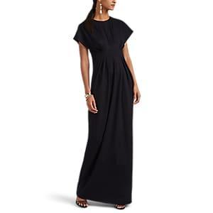 Lisa Perry Women's Ponte Flyaway Gown - Black